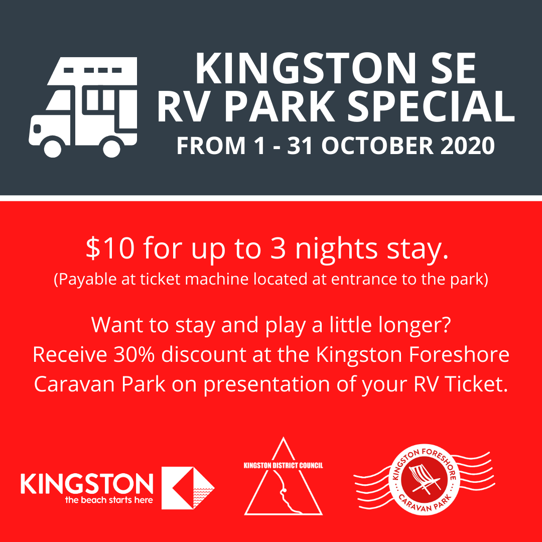Kingston SE RV Park Special - Stay 3 nights for the price of 2